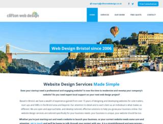 cliftonwebdesign.co.uk screenshot