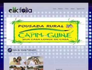 clikfolia.com screenshot