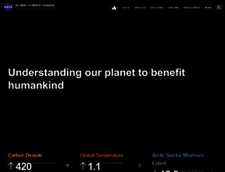 climate.nasa.gov screenshot