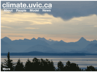 climate.uvic.ca screenshot