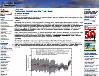climateaudit.org screenshot