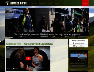 climatefirst-climatefirstus.nationbuilder.com screenshot