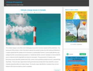 climateprosperity.ca screenshot