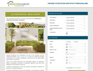 climatisation.reaction-habitat.com screenshot