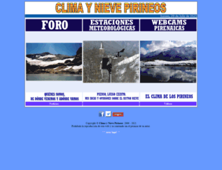 climaynievepirineos.com screenshot