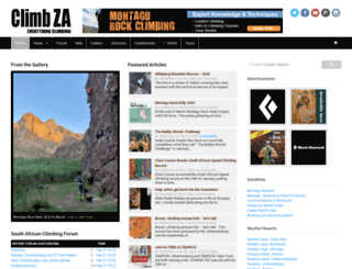 climbing.co.za screenshot