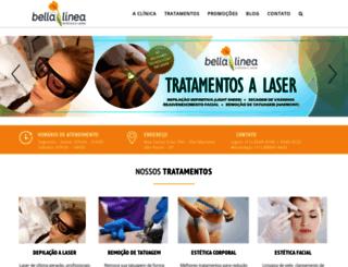 clinicabellalinea.com.br screenshot