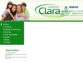clinicaclara.com.br screenshot