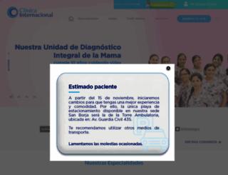 clinicainternacional.com.pe screenshot