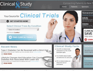 clinicalstudyconnect.com screenshot