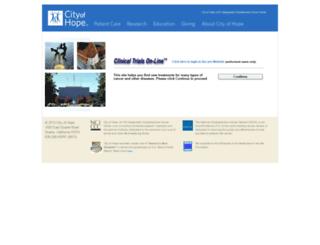 clinicaltrials.coh.org screenshot