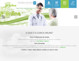 clinicaonline.net screenshot