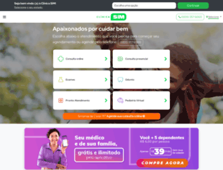 clinicasim.com screenshot