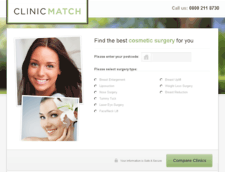 clinicmatch.co.uk screenshot