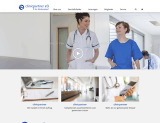 clinicpartner-eg.de screenshot