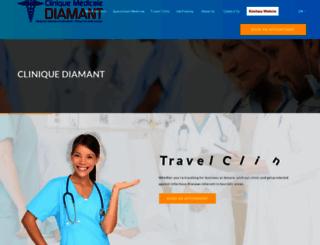 cliniquediamant.com screenshot