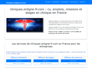 cliniques.enligne-fr.com screenshot