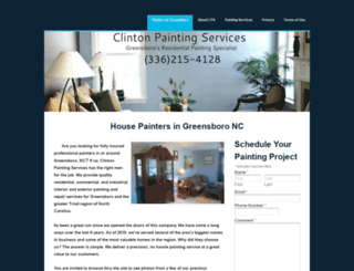 clintonpaintsgreensboro.com screenshot