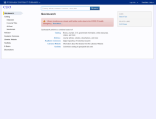 clio.columbia.edu screenshot