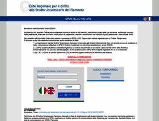 clio.edisu-piemonte.it screenshot