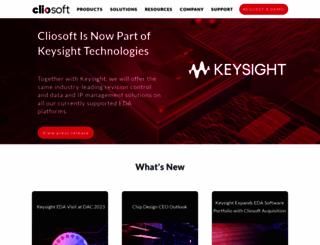cliosoft.com screenshot