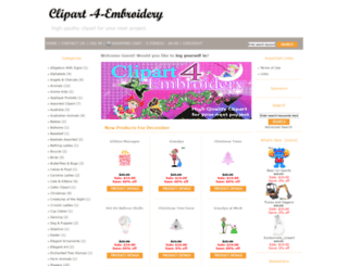 clipart-4-embroidery.com screenshot