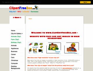 clipartfreebee.com screenshot
