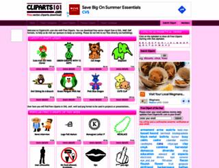 cliparts101.com screenshot