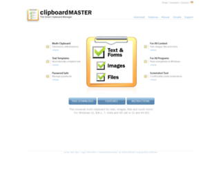 clipboardmaster.com screenshot