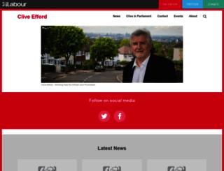 cliveefford.org.uk screenshot