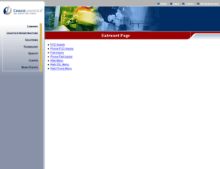 clnet.choicelogistics.com screenshot