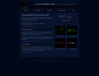 clock-screen-saver.com screenshot
