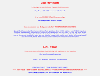 clockparts.co.uk screenshot