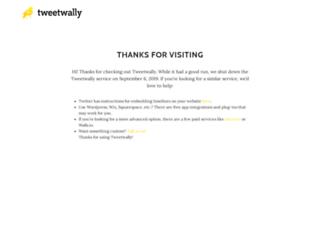 clockwork.tweetwally.com screenshot