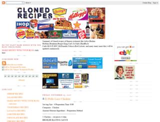 cloned-recipes.blogspot.com screenshot