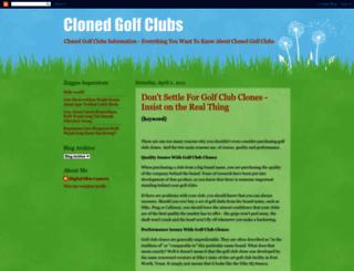 clonedgolfclubs.blogspot.com screenshot