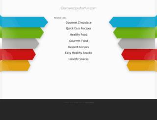 cloroxrecipesforfun.com screenshot