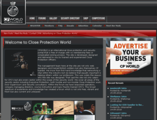 closeprotectionworld.co.uk screenshot
