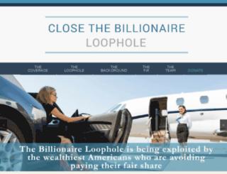closethebillionaireloophole.org screenshot