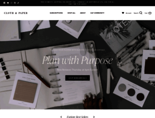 clothandpaper.com screenshot