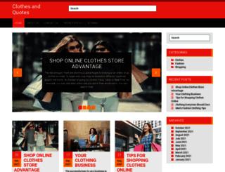 clothesandquotes.com screenshot