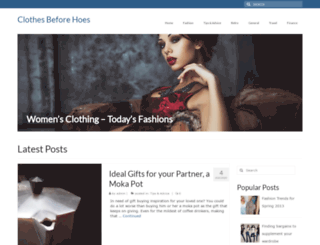 clothesbeforehoes.com screenshot
