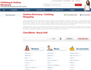 clothesdir.com screenshot