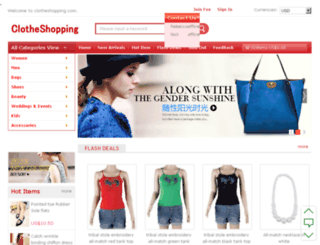 clotheshopping.com screenshot