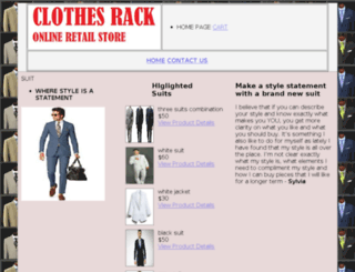 clothesrackonline.com screenshot