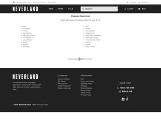 clothing.neverlandstore.com.au screenshot