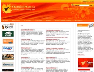 clothingmall.ca screenshot