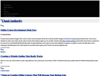 cloudauthority.org screenshot