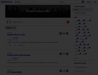 cloudav.ideascale.com screenshot