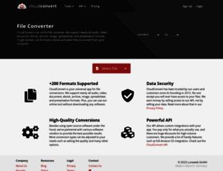 cloudconvert.org screenshot